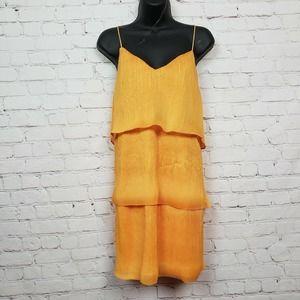 Saylor Luela Mini Dress Spaghetti Pleated Tiered